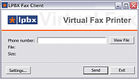 Окно отправки факса